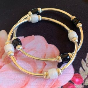 Sterling Silver Stretchy Bangles from Italy